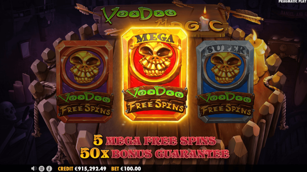Voodoo Magic Videoslot Cards