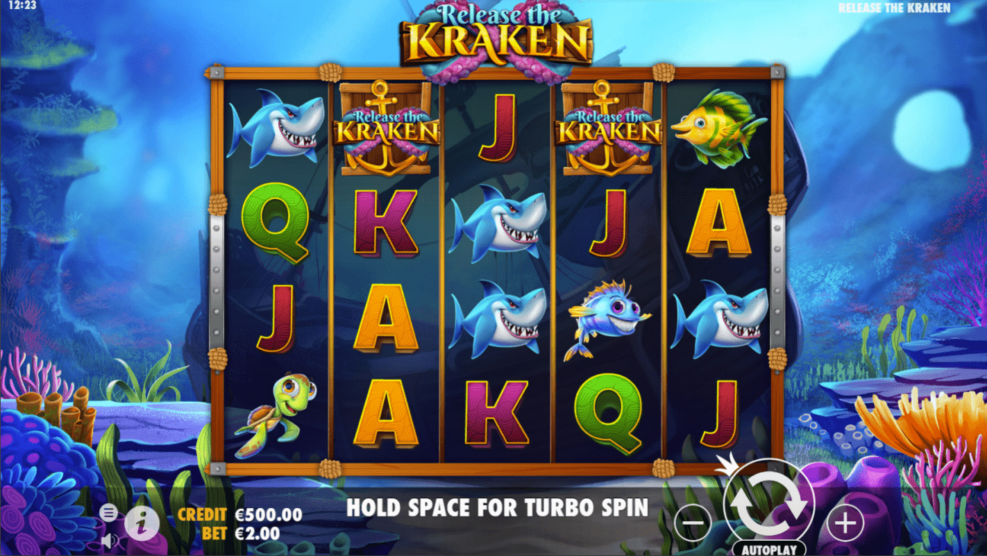 Release the Kraken Base Game Slot Machine