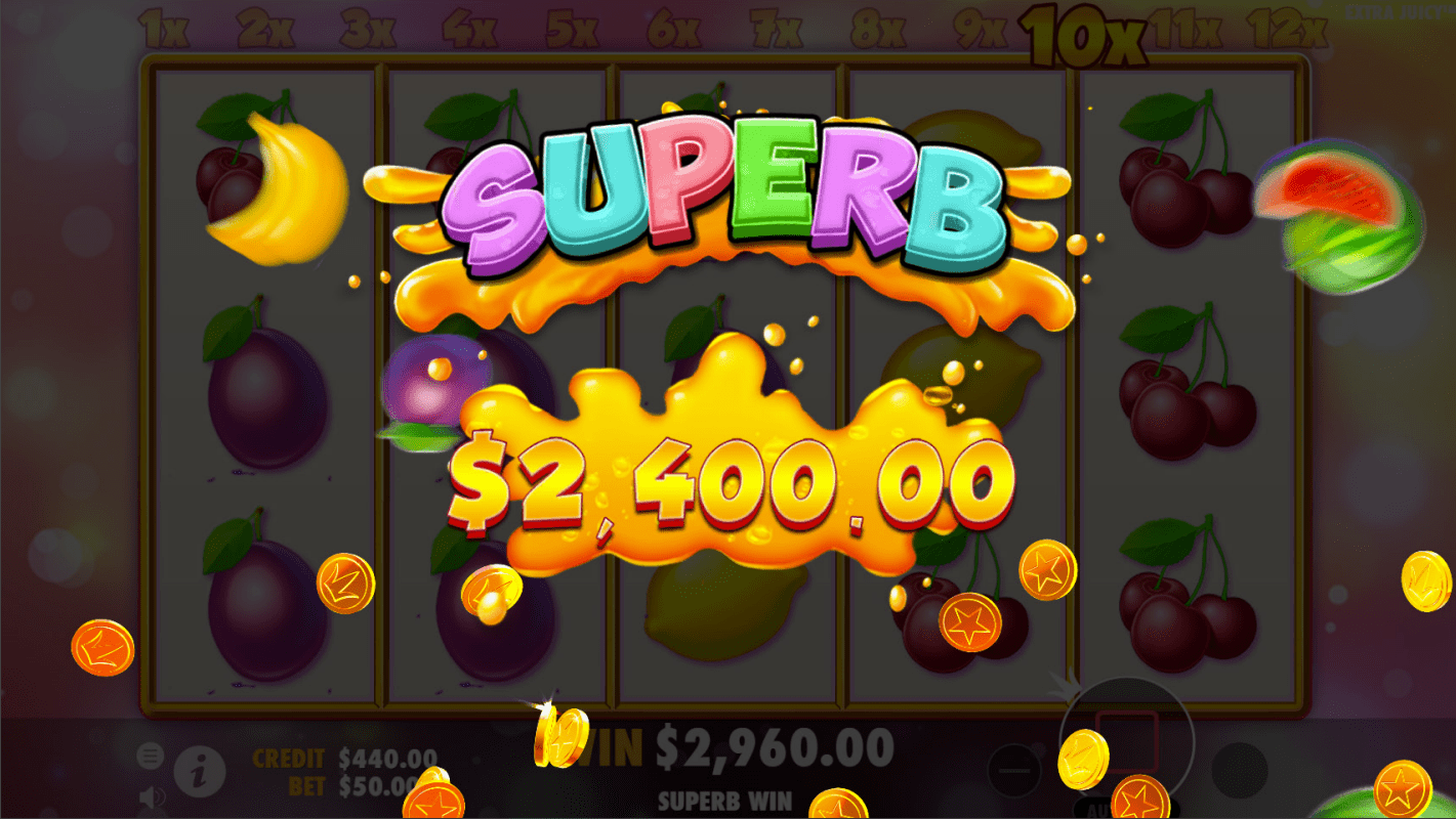 Extra Juicy Video Slot Superb Win