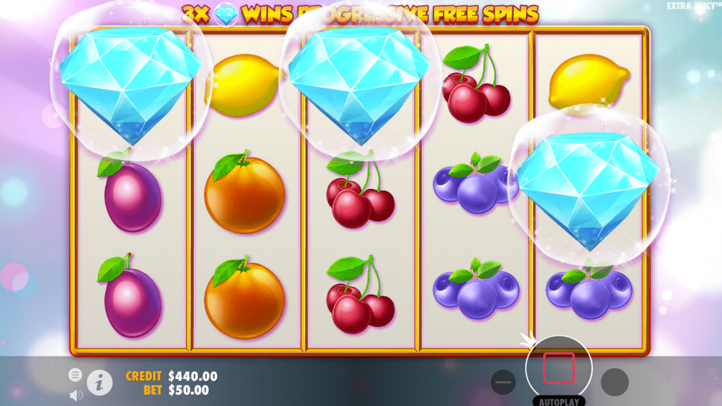 Extra Juicy Video Slot Free Spins Trigger