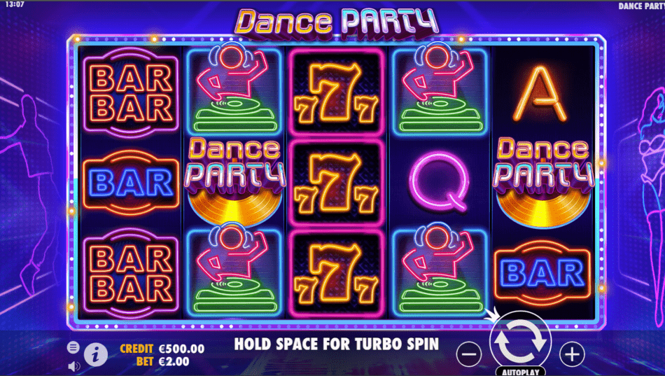 Dance Party Slot Game Base Gameplay