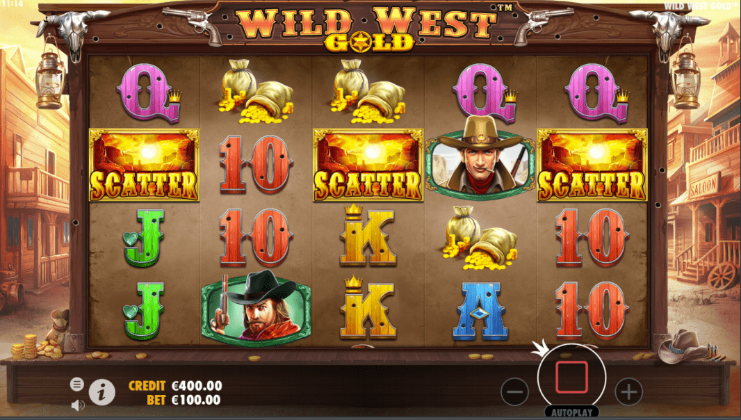 Wild West Gold Scatter Trigger - Free Spins Feature