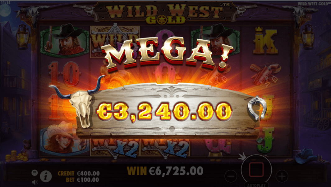 Wild West Gold Slot Machine Big win