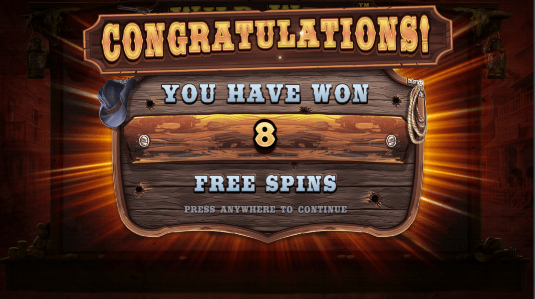 Wild West Gold Video Slot Free Spins Won