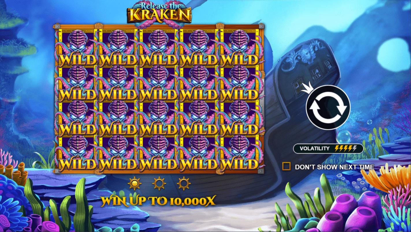 Release the Kraken Welcome Screen - Video Slot