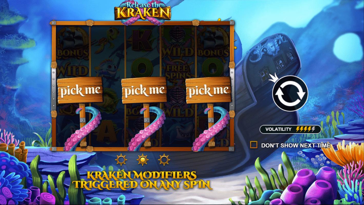 Release the Kraken Bonus Feature Video Slot