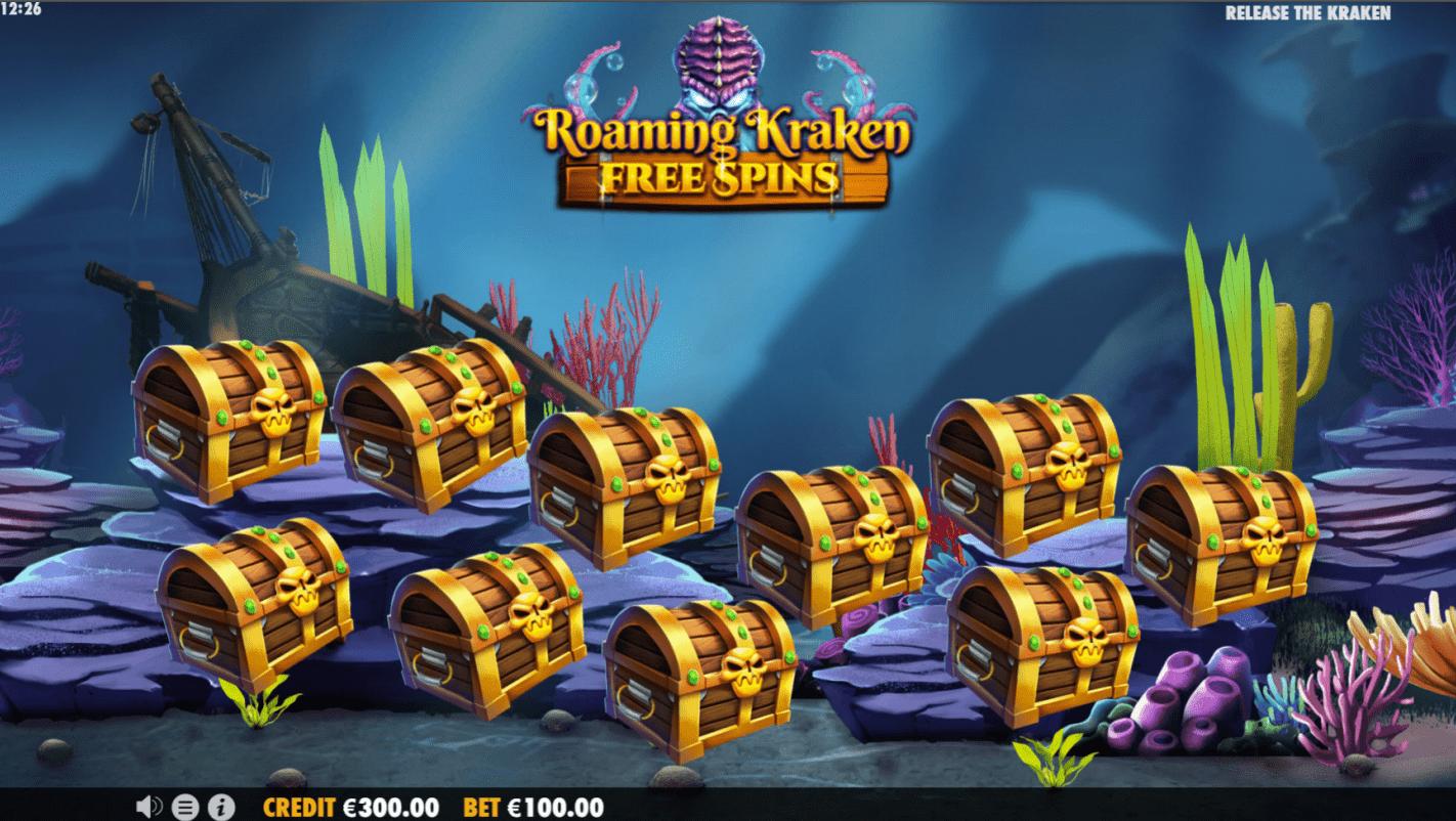 Release the Kraken Chest Picking Game Slot machine