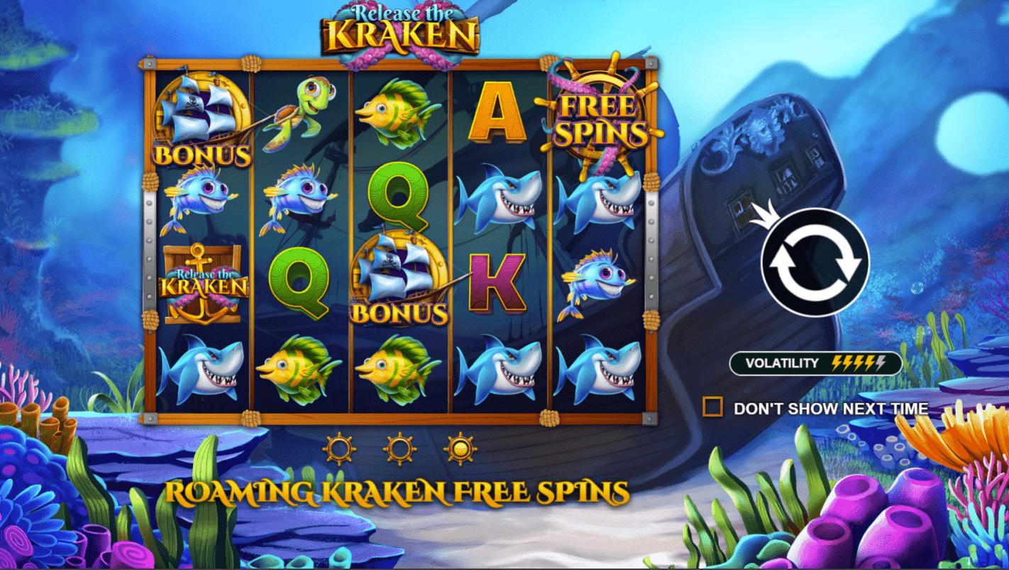 Release the Kraken Video Slot Free Spins Trigger