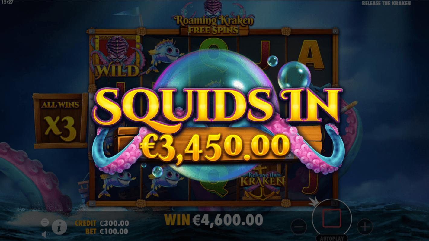 Release the Kraken Slot Game Big Win