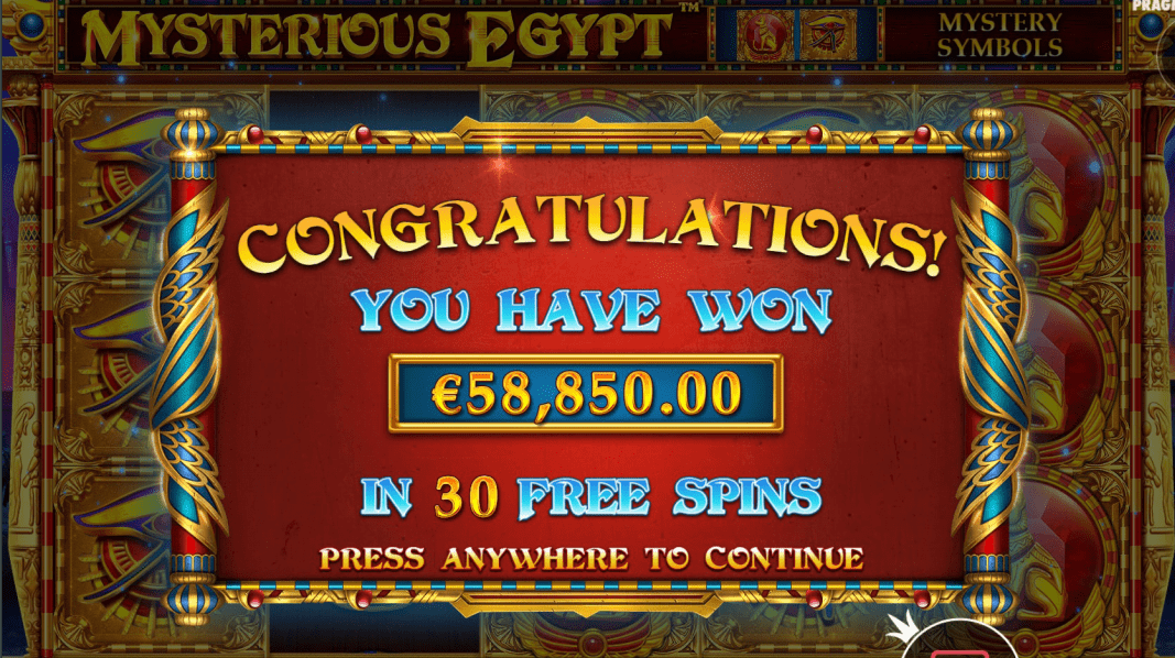 Mysterious Egypt Video Slot Big Win
