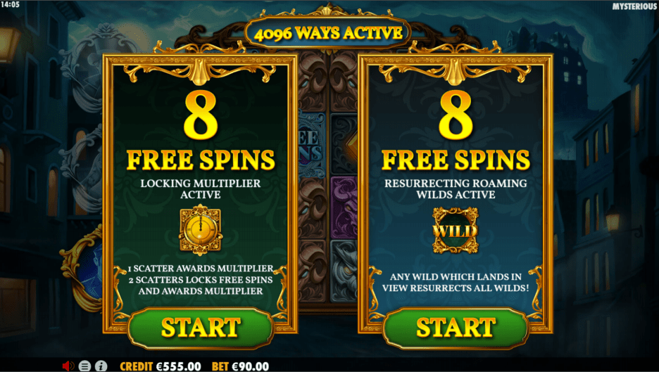 Mysterious Slot Game Picking Free Spins