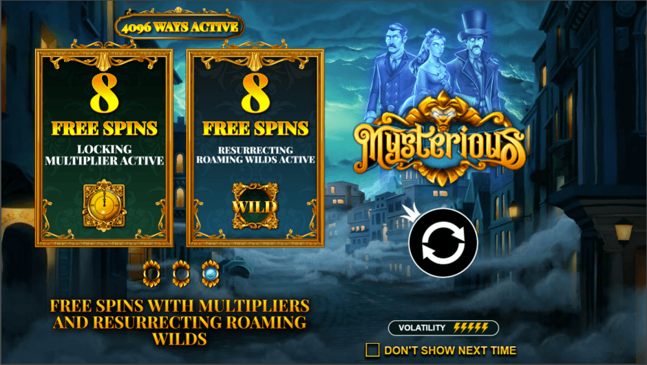 Mysterious Slot Game Welcome Free Spins