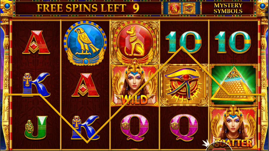 Mysterious Egypt Video Slot Base Game