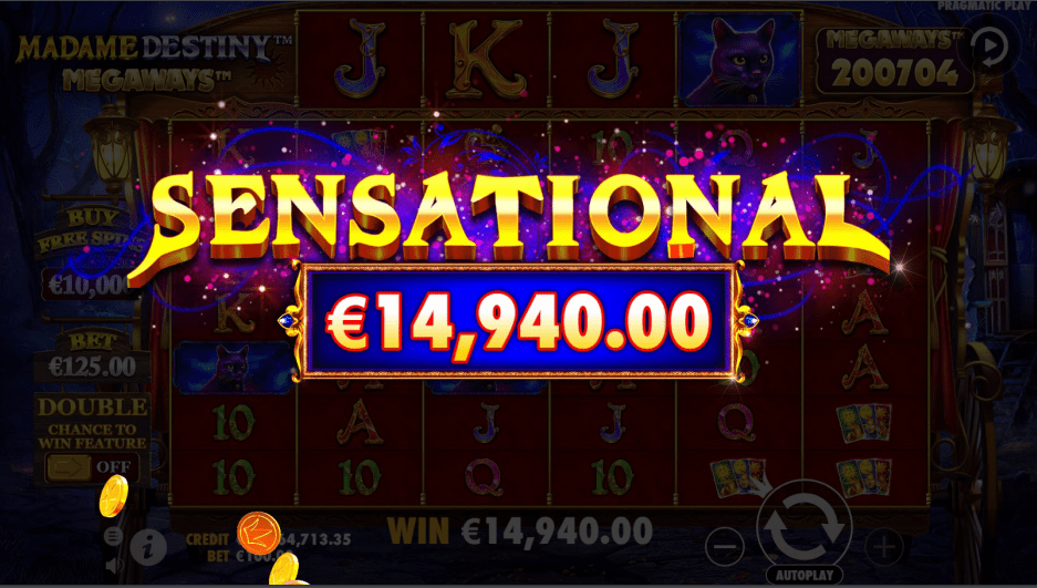 Madame Destiny Megaways Slot Game Sensational Win