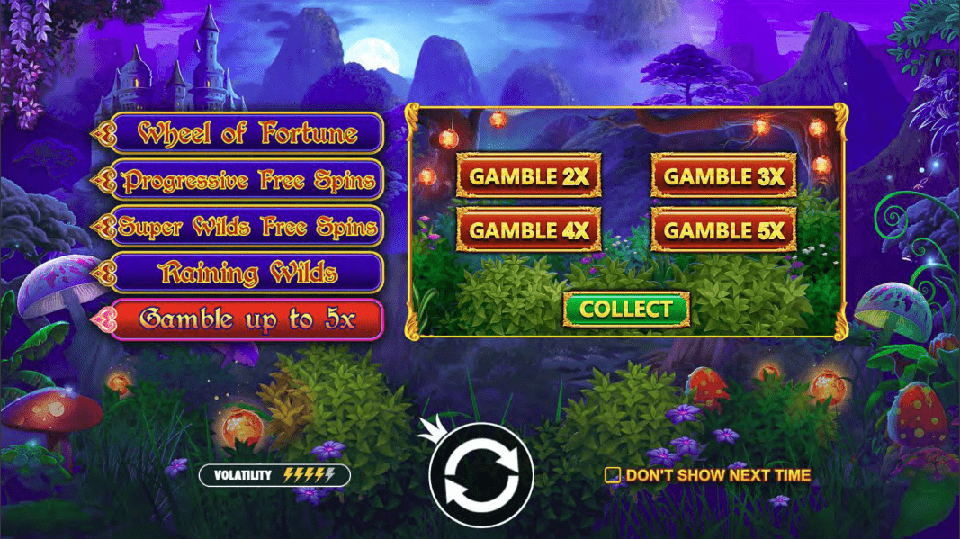 Fairytale Fortune Video Slot Gamble Feature