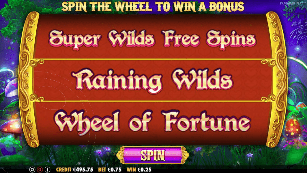 Fairytale Fortune Video Slot Bonus Game