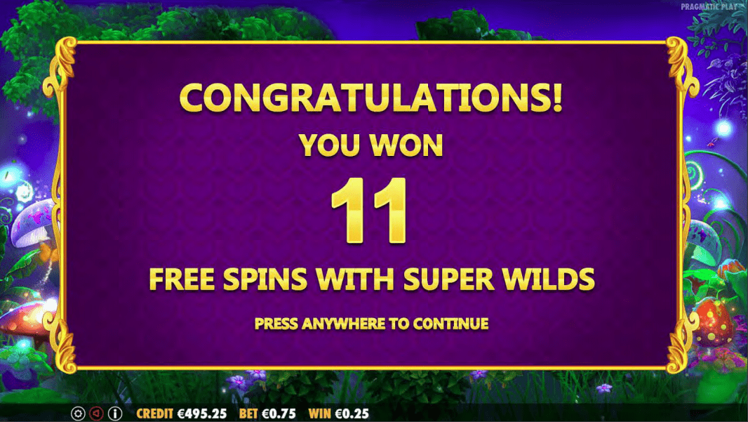 Fairytale Fortune Video Slot 11 Free Spins