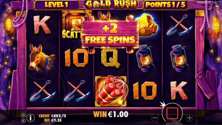 Gold Rush Slot Machine 2 Free Spins