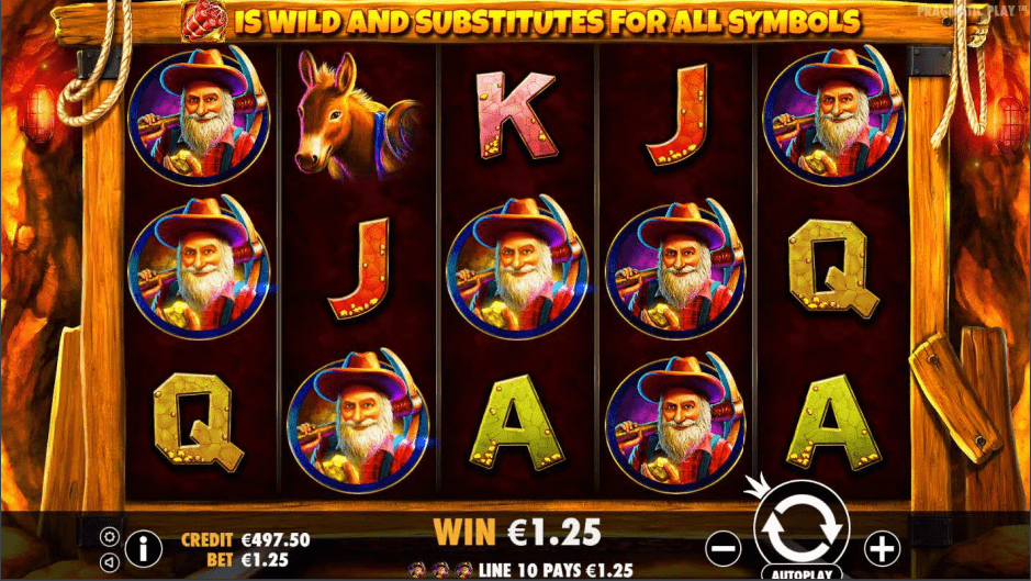 Gold Rush Video Slot Premium Win