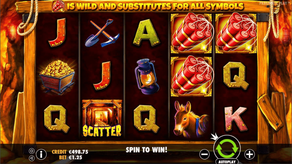 Gold Rush Scatter with Wilds Video Slot