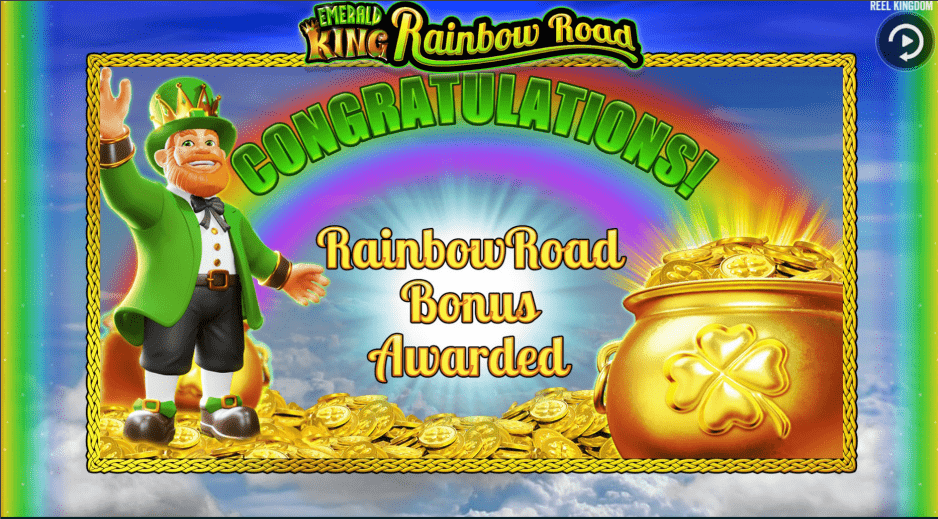 Emerald King Rainbow Road Slot Machine Rainbow Reward