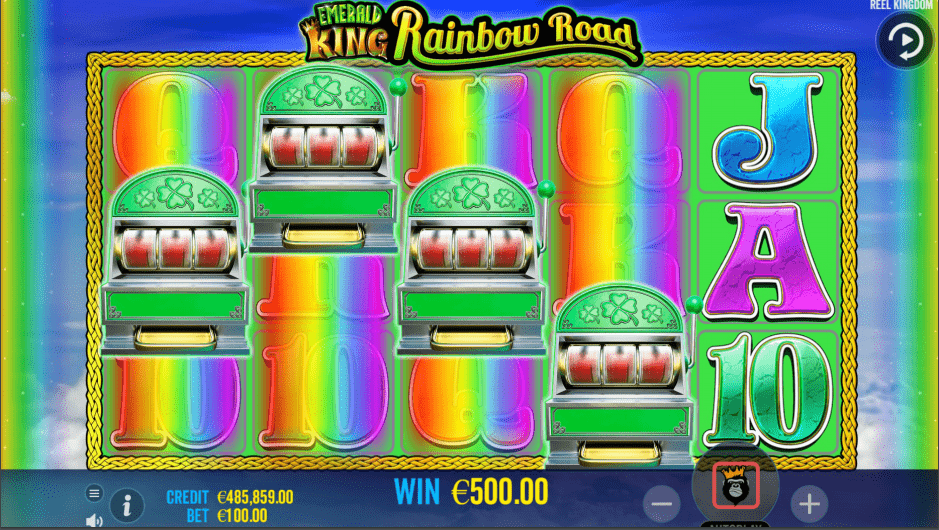 Emerald King Rainbow Road Slot Game Mini Slot Machines