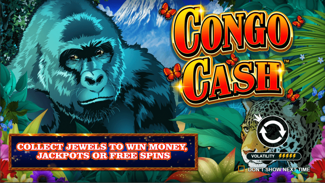 Congo Cash Video Slot Welcome Screen