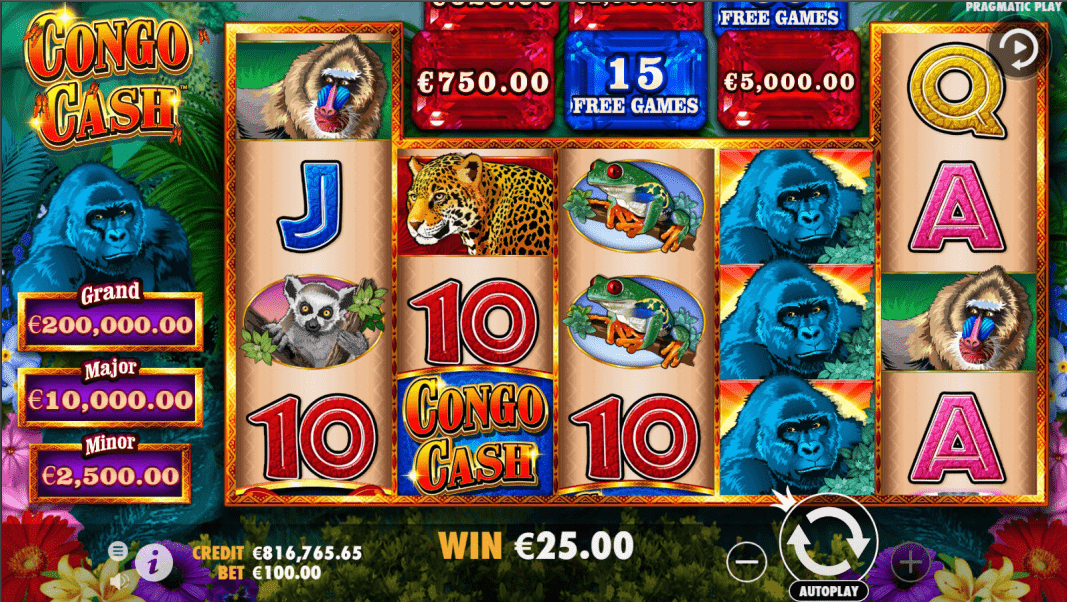 Congo Cash Video Slot Base Game