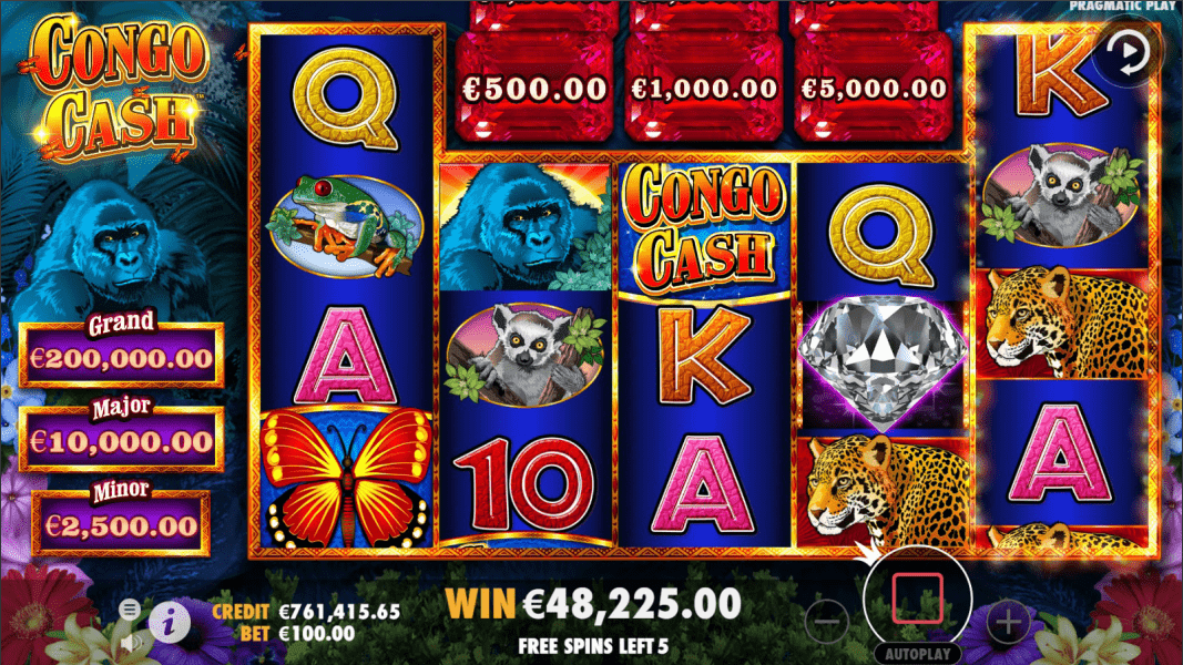 Congo Cash Video Slot Free Spins Feature Spin