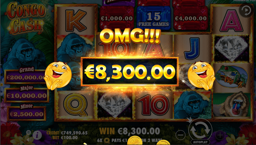 Congo Cash Video Slot Big Win