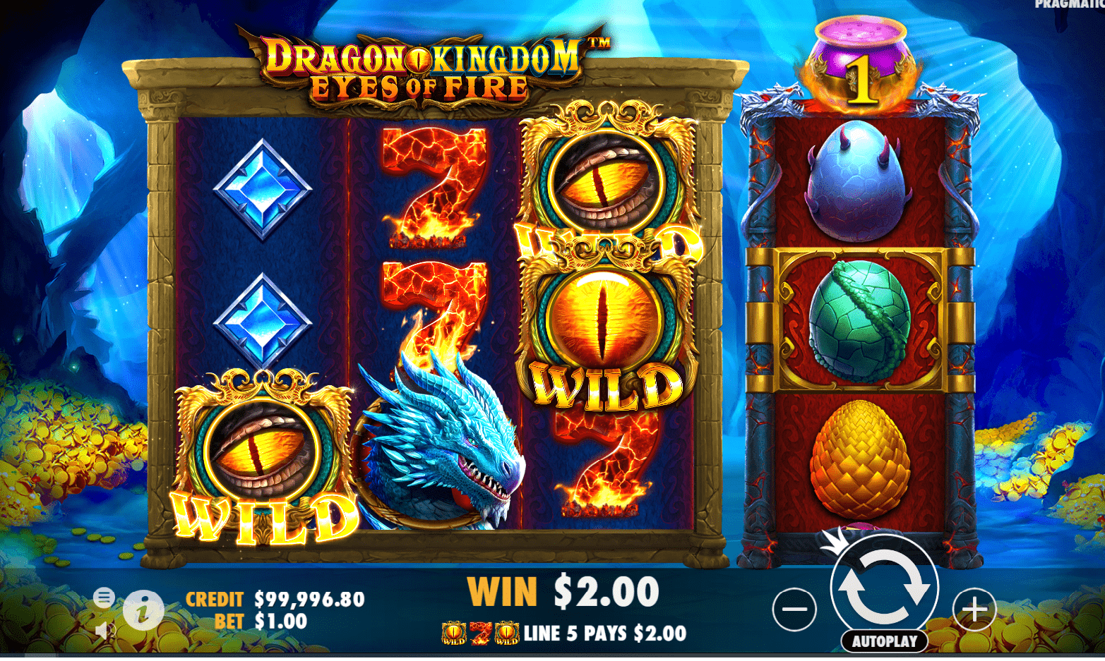 Dragon Kingdom Eyes Of Fire Video Slot Wilds