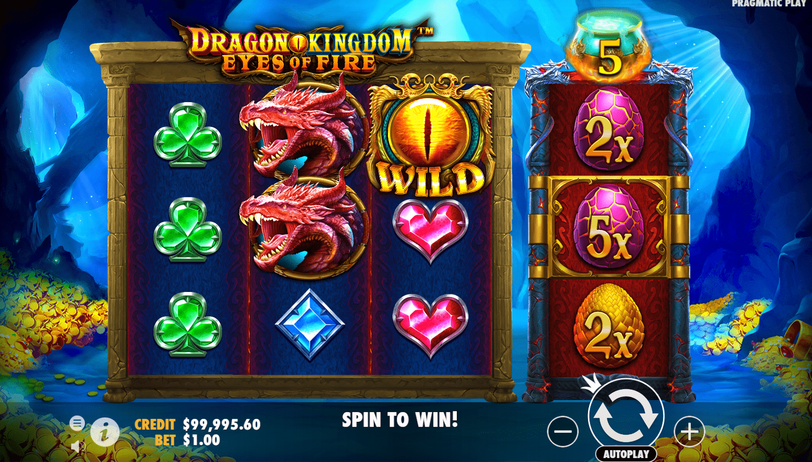 Dragon Kingdom Eyes Of Fire Video Slot Multipliers