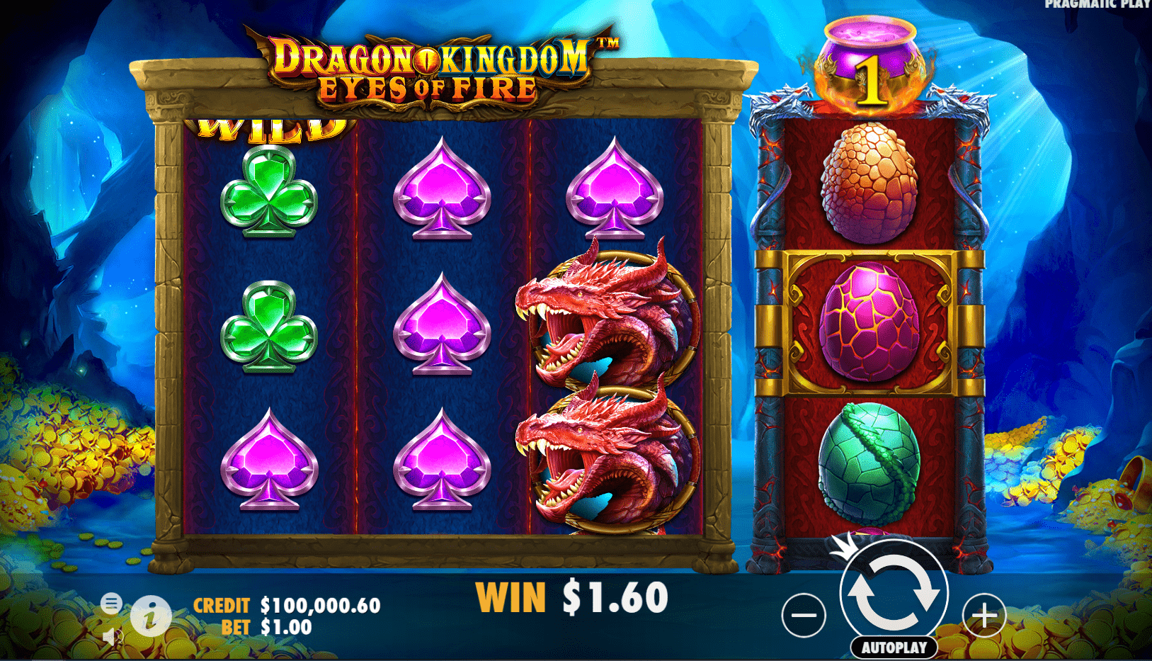 Dragon Kingdom Eyes Of Fire Video Slot Base Game