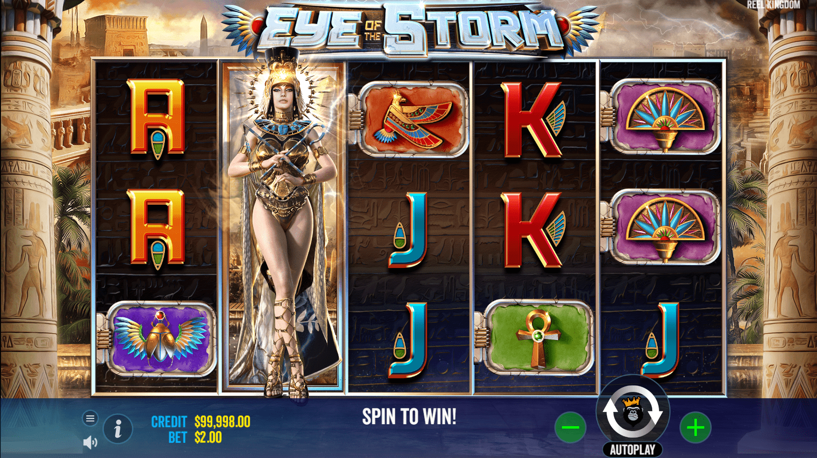 Eye of the Storm Slot Game Wild Expanding Symbol
