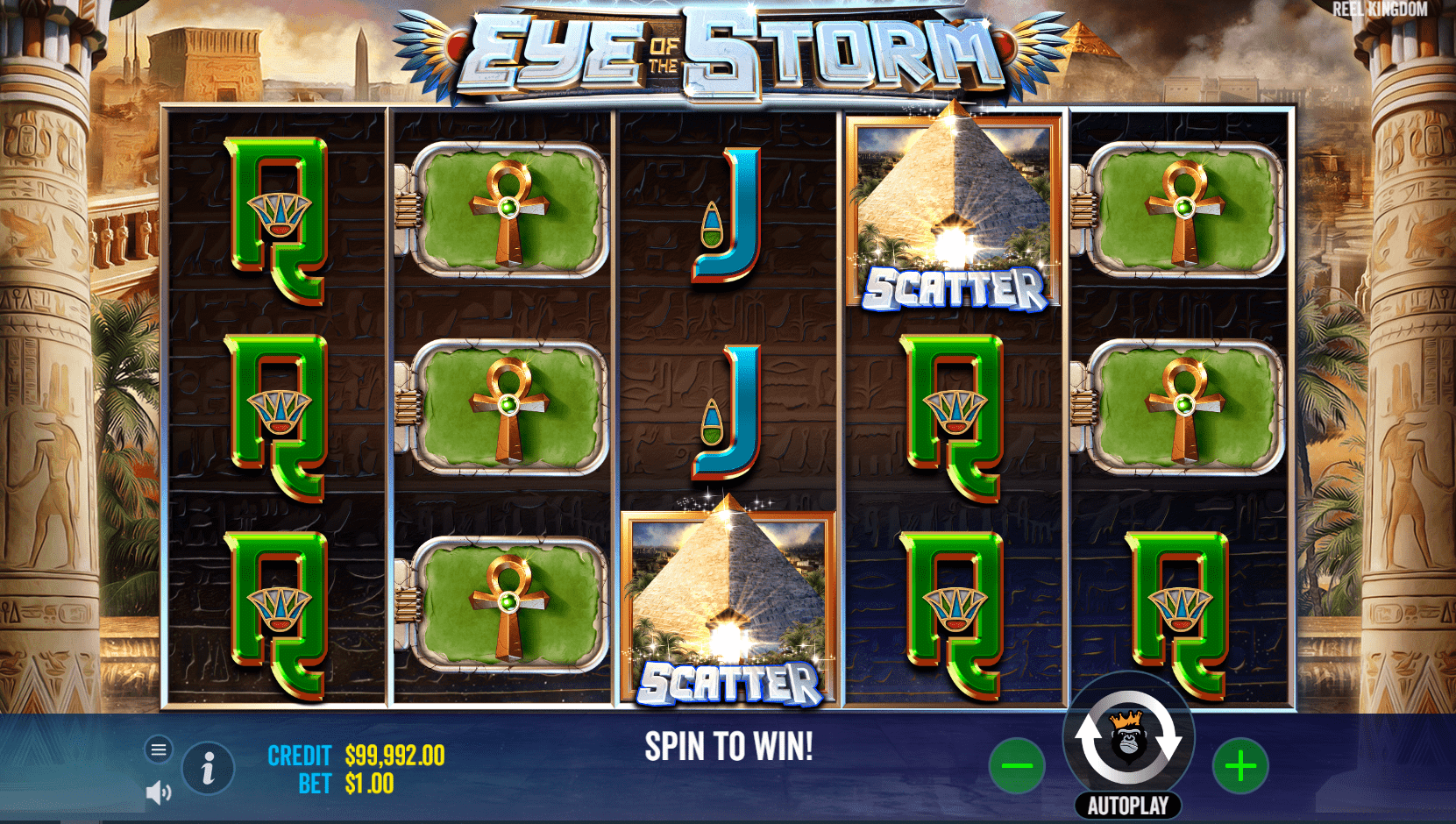 Eye of the Storm Slot Game Base Game