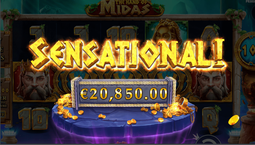 The Hand of Midas Video Slot Sensational Win