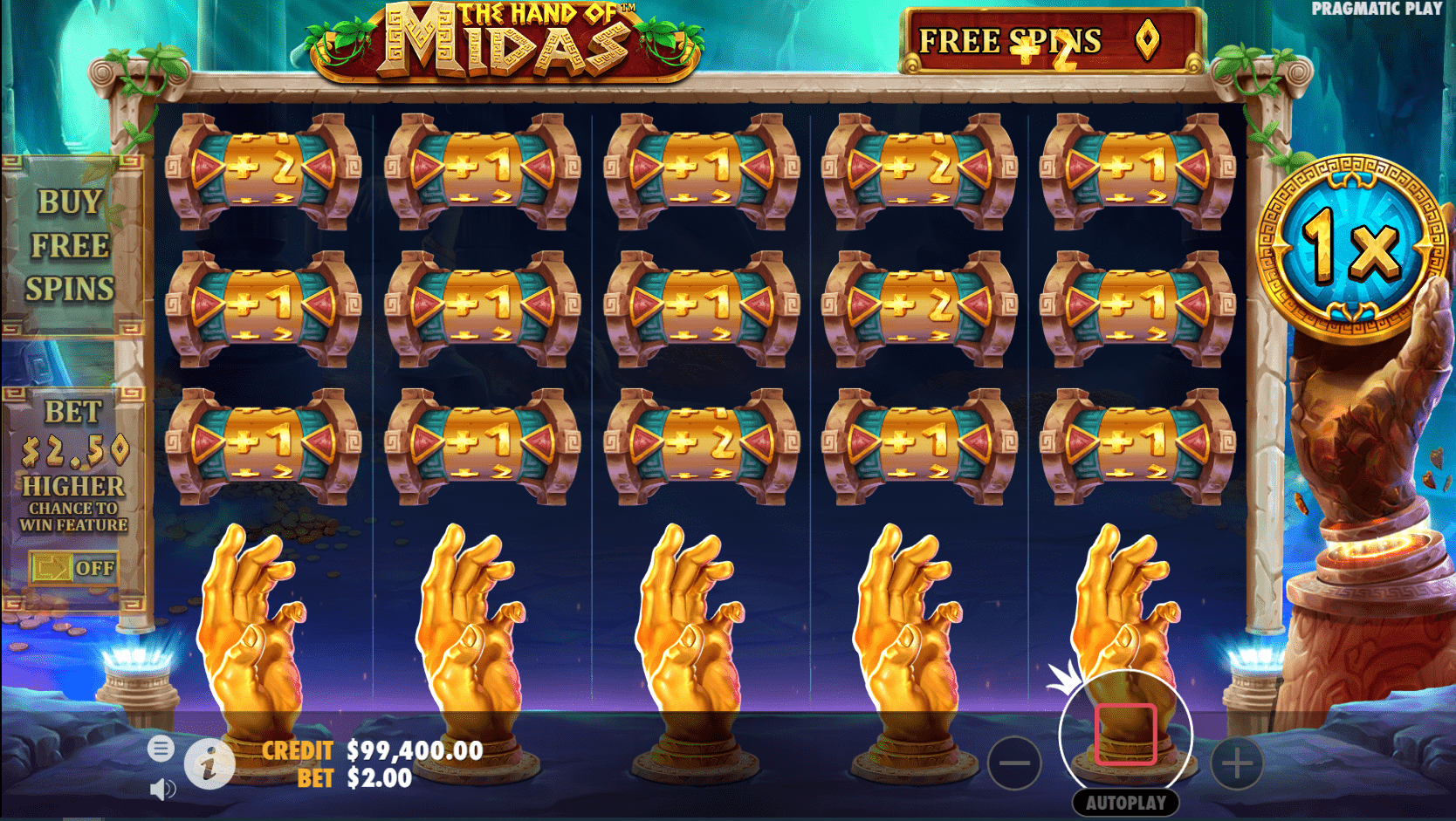 The Hand of Midas Video Slot Mini Game