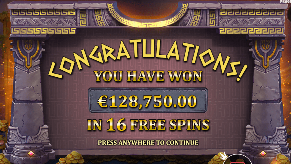 The Hand of Midas Slot Game Free Spins Win