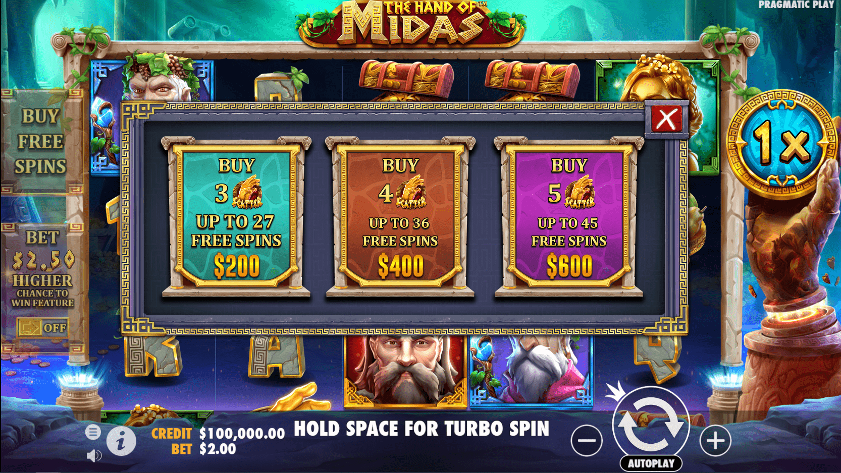 The Hand of Midas Video Slot Free Spins Buy