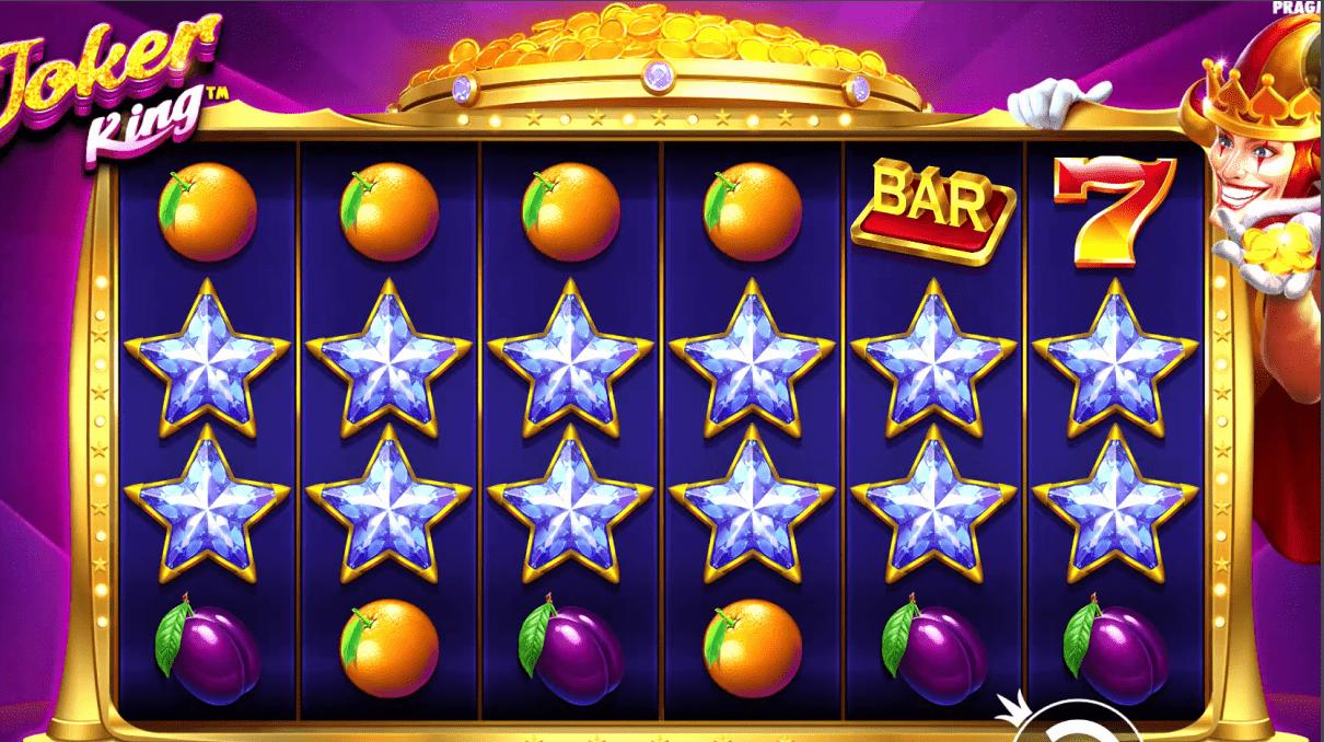 Joker King Slot Machine Base Game Stars